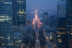 View of La Defense business quarter Royalty Free Stock Photo