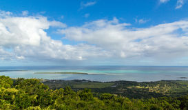 View on La Gaulette Mauritius from Plaine Champagne.  Royalty Free Stock Images