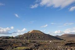 View of La Geria, the vinegrowing region of Lanzarote, Spain Royalty Free Stock Photos