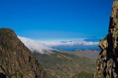 View from La Gomera. Typical nature on La Gomera, Canary, Islands, Spain stock photo