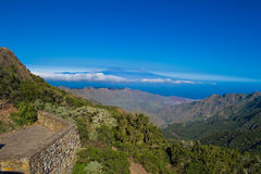 View from La Gomera. Typical nature on La Gomera, Canary, Islands, Spain stock images