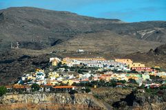 View of La Gomera. Canary Islands from the Ocean royalty free stock photos