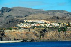 View of La Gomera. Canary Islands from the Ocean royalty free stock image