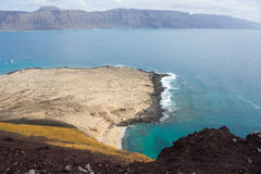 View of La Graciosa Royalty Free Stock Images