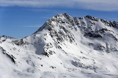 The view from La Grande Motte, Winter ski resort of Tignes-Val d Isere, France Stock Photography
