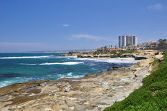 View of La Jolla coastline Stock Photos