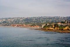 View of La Jolla Shores from La Jolla, California. Stock Images
