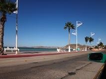 Scene of La Paz, Baja California Sur, Mexico. View of La Paz, Baja California Sur, Mexico stock image