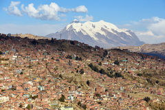 View of La Paz, Bolivia. Royalty Free Stock Image