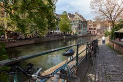 View of la petite France district in Strasbourg stock photo
