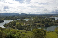View from La Piedra Del Penol. Overlooking Guatap Royalty Free Stock Photo
