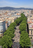 View of La Rambla Stock Photos