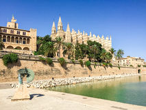 View of La Seu, Palma Cathedral Stock Photo