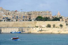 View at La Valletta, the capital city of Malta. La Valletta, Malta - 2 Novembre 2017: View of Valletta, the capital city of Malta Stock Photos