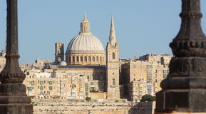 View of La Valletta from Sliema Malta Royalty Free Stock Photography
