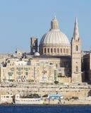 View of La Valletta from Sliema Malta.  Stock Image