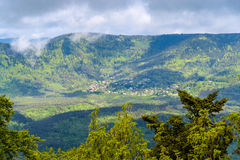 View of La Vancelle - a village in Vosges mountains, Alsace, Fra Stock Photography