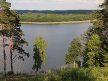 View from Ladakalnis hill (Aukštaitija National Park, Lithuania) Royalty Free Stock Photography