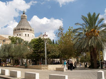 View of the Lady day basilica in Nazareth, Israel Royalty Free Stock Image