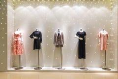 Lady fashion shop window mannequin front