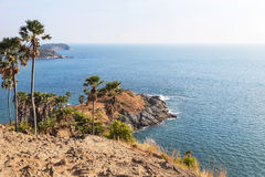 View of Laem phrom thep cape in andaman sea at phuket,Thailand. Royalty Free Stock Photography