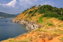 View of Laempromthep coast, Phuket Royalty Free Stock Photos