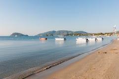 View of Laganas Bay on Zakynthos Island Stock Photography