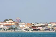 View of Laganas coast on island Zakynthos Royalty Free Stock Photo