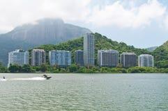 View of Lagoa Rodrigo de Freitas in Rio de Janeiro Royalty Free Stock Photo
