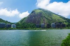 View of Lagoa Rodrigo de Freitas in Rio de Janeiro Stock Image