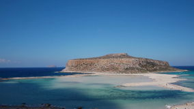 View of the lagoon Ballos(Balos) and the island Gramvousa Stock Image