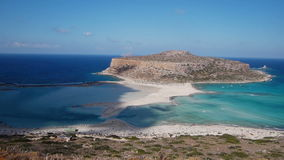 View of the lagoon Ballos(Balos) and the island Gramvousa Stock Images