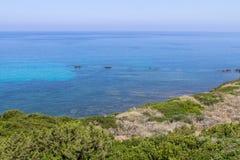 Lagoon at Costa Smeralda, Sardinia, Italy Royalty Free Stock Photography