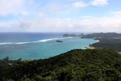 View of the lagoon at Lord Howe Island Royalty Free Stock Image