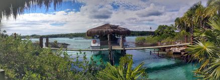 Xel Ha Lagoon and Underwater Viewing Area Royalty Free Stock Image