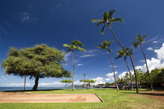 View of Lahaina harbor park, Maui, Hawaii Royalty Free Stock Image