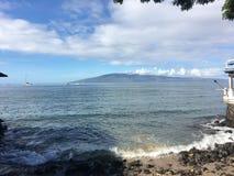 View from Lahaina onto island royalty free stock photo