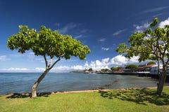 View of Lahaina's Front street, Maui, Hawaii Stock Photos