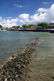 View of Lahaina's Front street, Maui, Hawaii Royalty Free Stock Images