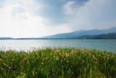 View of the lake. View of the landscape around Lake Como, Italy Royalty Free Stock Images
