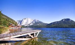 View of Lake Altaussee, Austria Royalty Free Stock Photo