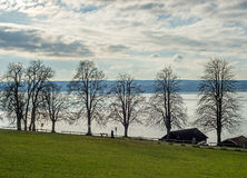 View of the lake Ammersee in Bavaria Stock Photography