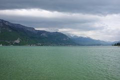 View of the lake of Annecy Stock Photography