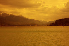 View of the lake of Annecy Royalty Free Stock Photo