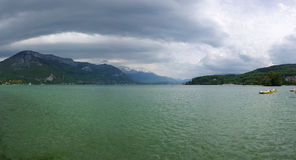 View of the lake of Annecy Royalty Free Stock Photography