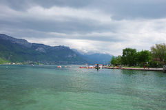 View of the lake of Annecy Royalty Free Stock Photos
