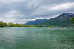 View of the lake of Annecy Stock Photos