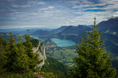 View of Lake Annecy in the French Alps Royalty Free Stock Photo