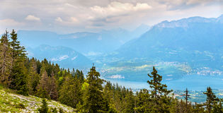 View of lake Annecy from Semnoz Royalty Free Stock Photos