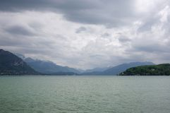View of the lake of Annecy Royalty Free Stock Image